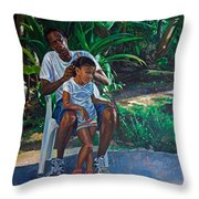 Grandfather And Child Throw Pillow