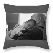 Grandfather And Granddaughter Throw Pillow