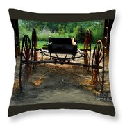 Grandfathers Buggy Throw Pillow