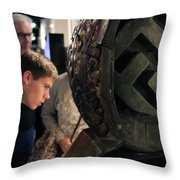 Grandfather's Stories Throw Pillow