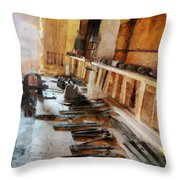 Grandfather's Tools Throw Pillow