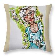 Grandma Hippie Throw Pillow