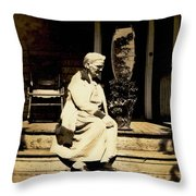 Grandma Jennie Throw Pillow