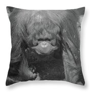 Grandma Jill Takes A Stroll Throw Pillow