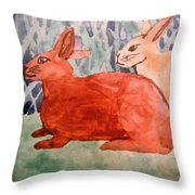 Grandma's Bunnies Throw Pillow