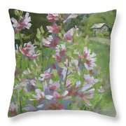 Grandma's Flowers Throw Pillow