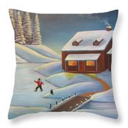 Grandma's Old Jalopy Throw Pillow