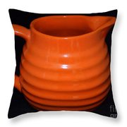 Grandmas Orange Juice Pitcher Throw Pillow