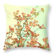 Grandma's Pink Dogwood Throw Pillow