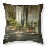 Grandmas Porch Drawing Throw Pillow