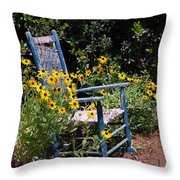 Grandma's Rocking Chair Throw Pillow