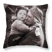 Grandmother And Child Throw Pillow