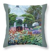 Grandmother's Garden Flowers Throw Pillow