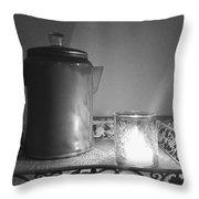 Grandmothers Vintage Coffee Pot Throw Pillow