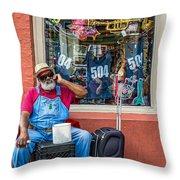 Grandpa Elliott Small Throw Pillow