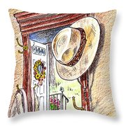 Grandpa Is Home Throw Pillow
