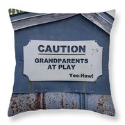 Grandparents At Play Throw Pillow