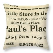 Grandparents Old Country Store Ad Throw Pillow