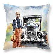 Grandpa's Chevy Throw Pillow