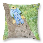 Grandpa's Footsteps Throw Pillow