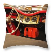Grandpa's Garage Throw Pillow
