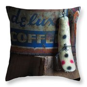 Old Fishing Lure Throw Pillow