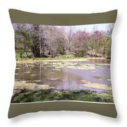 Grandpa's Pond Throw Pillow