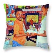 Grandpas Surprise Throw Pillow
