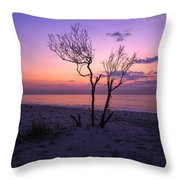 Grandview Beach Sunrise Throw Pillow