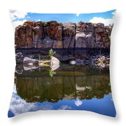 Granite Dells Reflection Throw Pillow