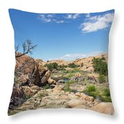 Granite Dells Rocky Terrain  Throw Pillow