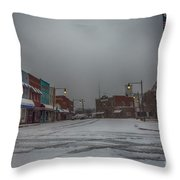 Granite Falls Snow Throw Pillow