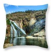 Granite Mountain Waterfall Panorama Throw Pillow
