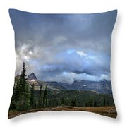 Granite Park Chalet - Glacier National Park Throw Pillow