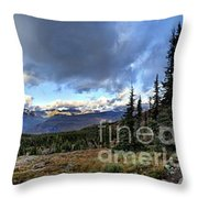 Granite Park - Glacier National Park Throw Pillow