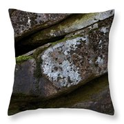 Granite Rock Close Up Throw Pillow