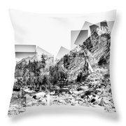 Granite Steps Eagle Lake Sequoia National Park California 2012 Throw Pillow