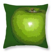 Granny Smith Throw Pillow