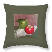 Granny Smith With Pink Lady Throw Pillow