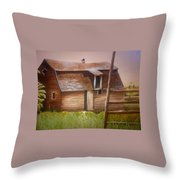 Granny's Barn Throw Pillow