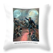 Grant At The Capture Of The City Of Mexico Throw Pillow