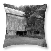 Granville Barn Bw Throw Pillow