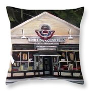 Granville Country Store Front View Throw Pillow