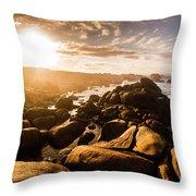 Granville Harbour Tasmania Sunrise Throw Pillow