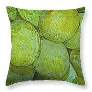 Grape Abstract Throw Pillow