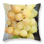 Grape From Chios Mountains In Greece Throw Pillow