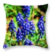 Grape Hyacinths  Throw Pillow
