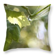 Grape Leaf Throw Pillow