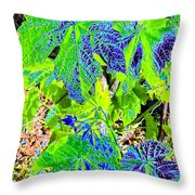 Grape Leaves Throw Pillow