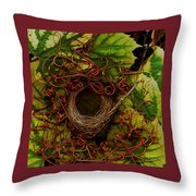 Grape Nest Throw Pillow